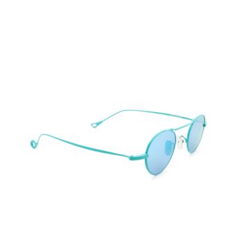 Eyepetizer® Round Sunglasses: Yves color Turquoise C.14-38.