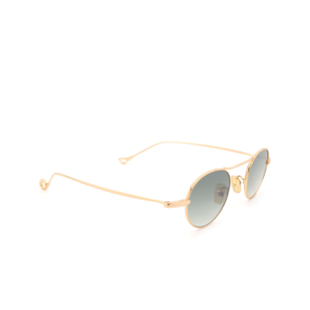 Eyepetizer® Round Sunglasses: Yves color Gold C.4-25F.