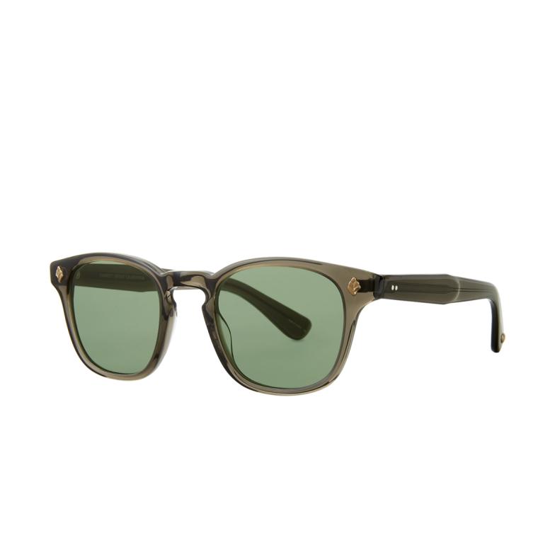 Garrett Leight® Square Sunglasses: Ace Sun color Black Glass Blgl/sfpg.