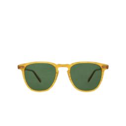 Garrett Leight® Sunglasses: Brooks Sun color Butterscotch Bt/grn Plr.