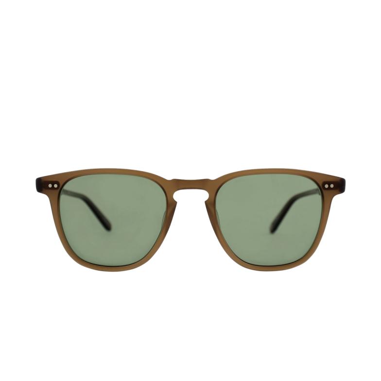 Garrett Leight® Square Sunglasses: Brooks Sun color Matte Espresso MESP/G15PLR.