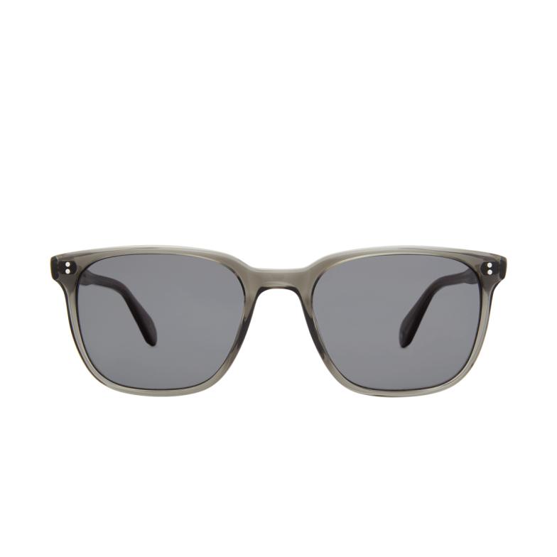 Garrett Leight® Square Sunglasses: Emperor Sun color Grey Crystal Gcr/bk.