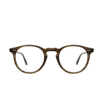 Garrett Leight® Round Eyeglasses: Glencoe color Olive Tortoise Ot.