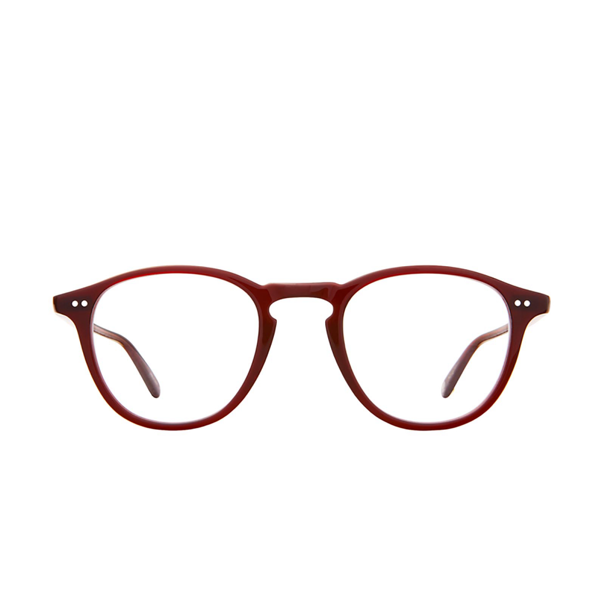 Garrett Leight® Round Eyeglasses: Hampton color Barolo Bar.