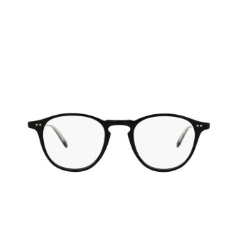 Garrett Leight® Round Eyeglasses: Hampton color Black Bk.