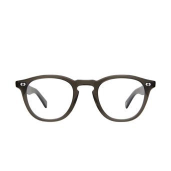 Garrett Leight® Square Eyeglasses: Hampton X color Black Glass Blgl.