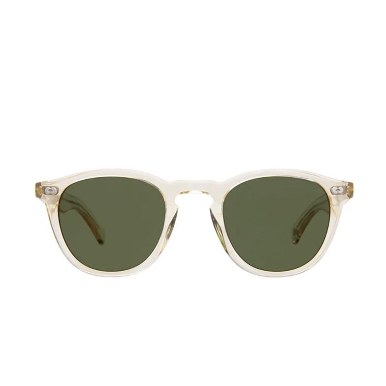 Garrett Leight® Square Sunglasses: Hampton X Sun color Pure Glass Pg/pgn.