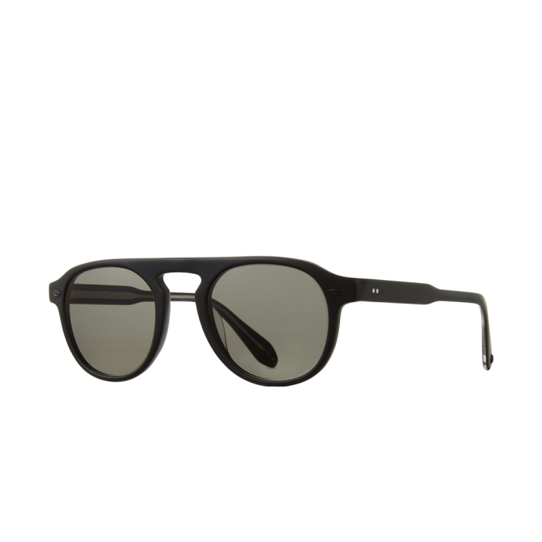 Garrett Leight® Aviator Sunglasses: Harding Sun color Matte Black Mbk/pgy.