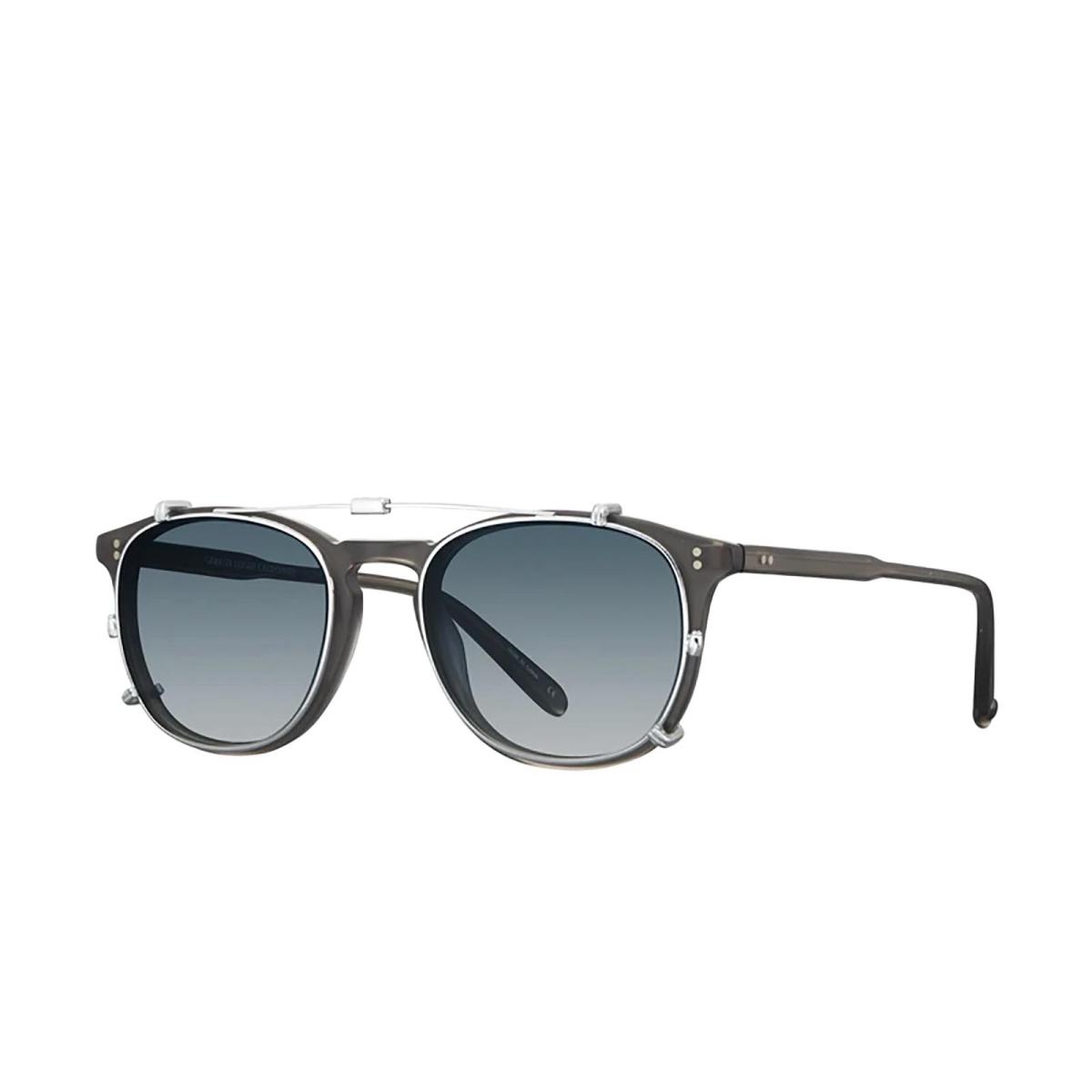 Garrett Leight® Square Accessories: Kinney Clip color Silver S/blug.
