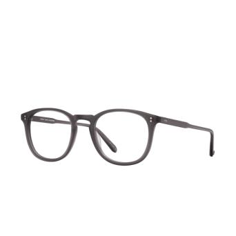 Garrett Leight® Round Eyeglasses: Kinney color Matte Grey Crystal Mgcr.