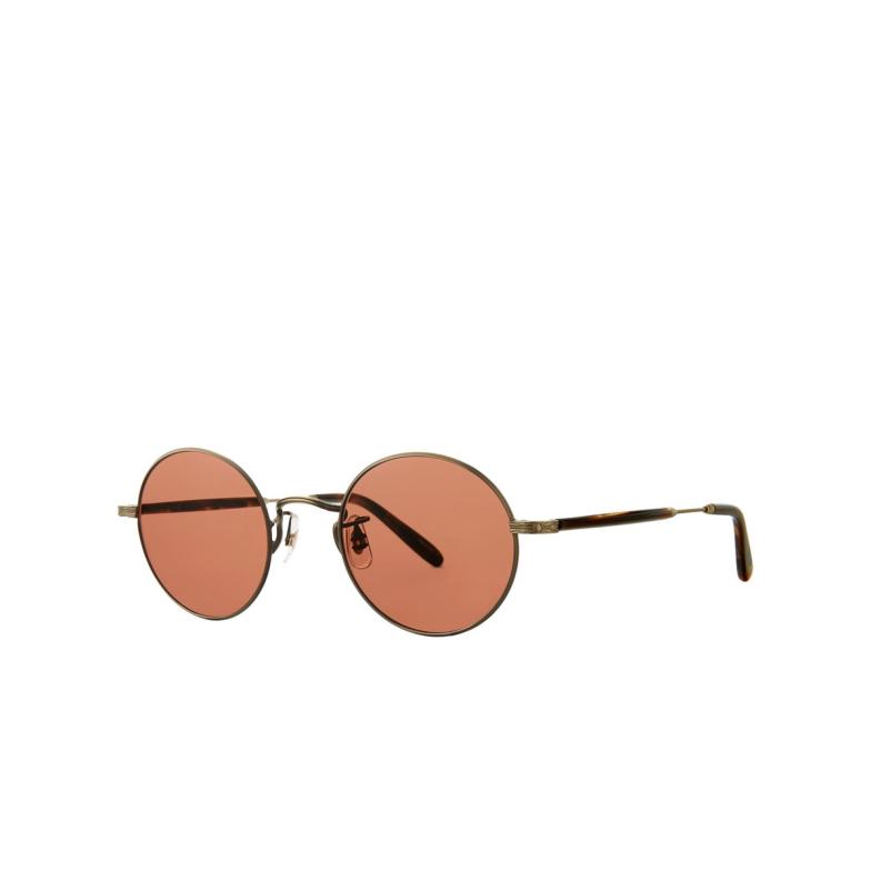 Garrett Leight® Round Sunglasses: Lovers Sun color Antique Gold-marble Agii-bmrt/prw.