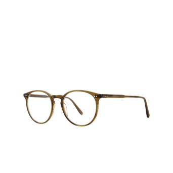 Garrett Leight® Round Eyeglasses: Morningside color Olive Tortoise Ot.