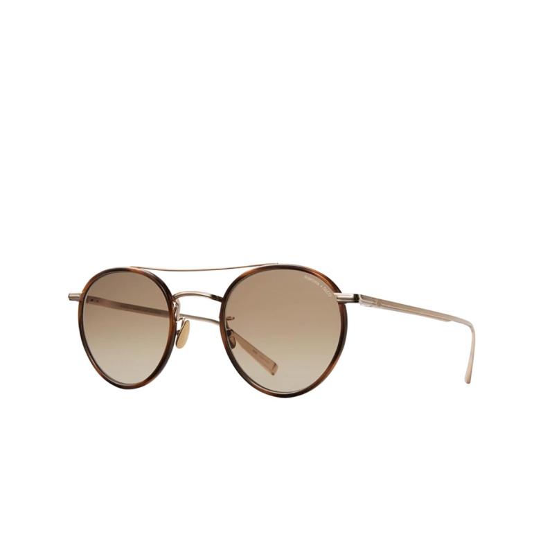 Garrett Leight® Round Sunglasses: Rimowa X Glco Sun color Demi Blonde-gold Db-g/sfsegd.