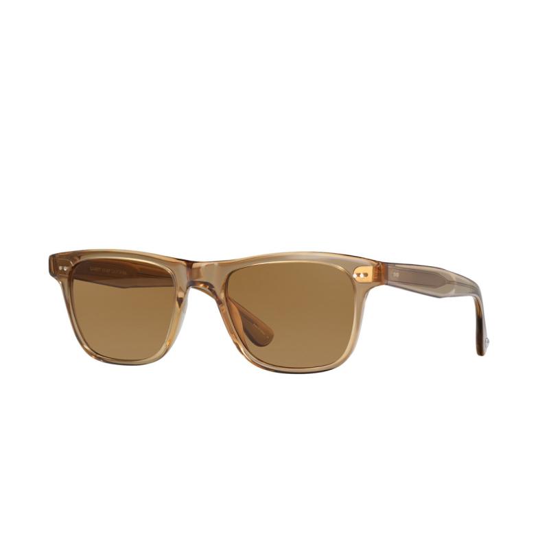 Garrett Leight® Square Sunglasses: Wavecrest Sun color Bottle Glass Brown Bgb-sfsbl-plr.