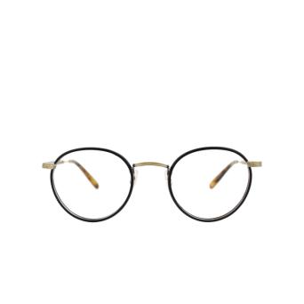 Garrett Leight® Round Eyeglasses: Wilson color Matte Black-tort Mbk-mst.