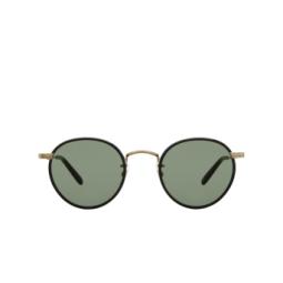 Garrett Leight® Sunglasses: Wilson Sun color Black-gold BK-G-BK/SFPG15.