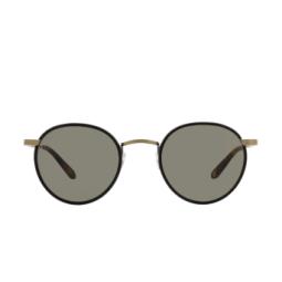 Garrett Leight® Sunglasses: Wilson Sun color Matte Black - Tortoise Mbk-mst/pgy.
