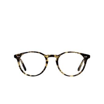Garrett Leight® Round Eyeglasses: Winward color Black Amber Bka.