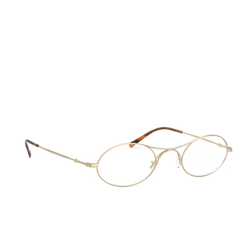 Giorgio Armani® Oval Eyeglasses: AR 229M color Matte Pale Gold 3002.