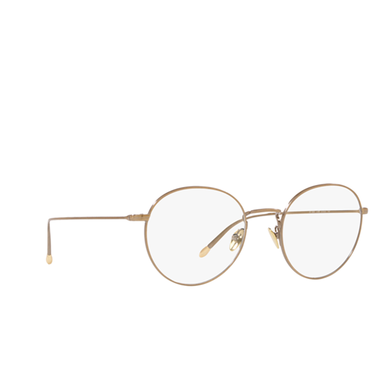 Giorgio Armani® Round Eyeglasses: AR5095 color Brushed Gold 3198.