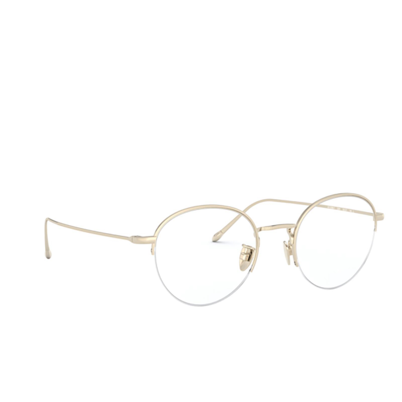 Giorgio Armani® Round Eyeglasses: AR5098T color Brushed Soft Gold 3281.