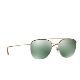 Giorgio Armani® Square Sunglasses: AR6058J color Yellow Havana / Matte Pale Gold 30026R.