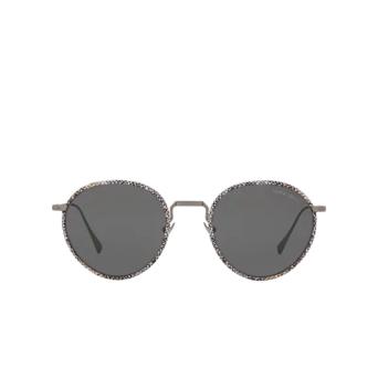 Giorgio Armani® Round Sunglasses: AR6103J color Matte Gunmetal 300387.