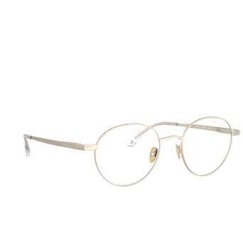 Giorgio Armani® Round Sunglasses: AR6107 color Matte Pale Gold 30021W.