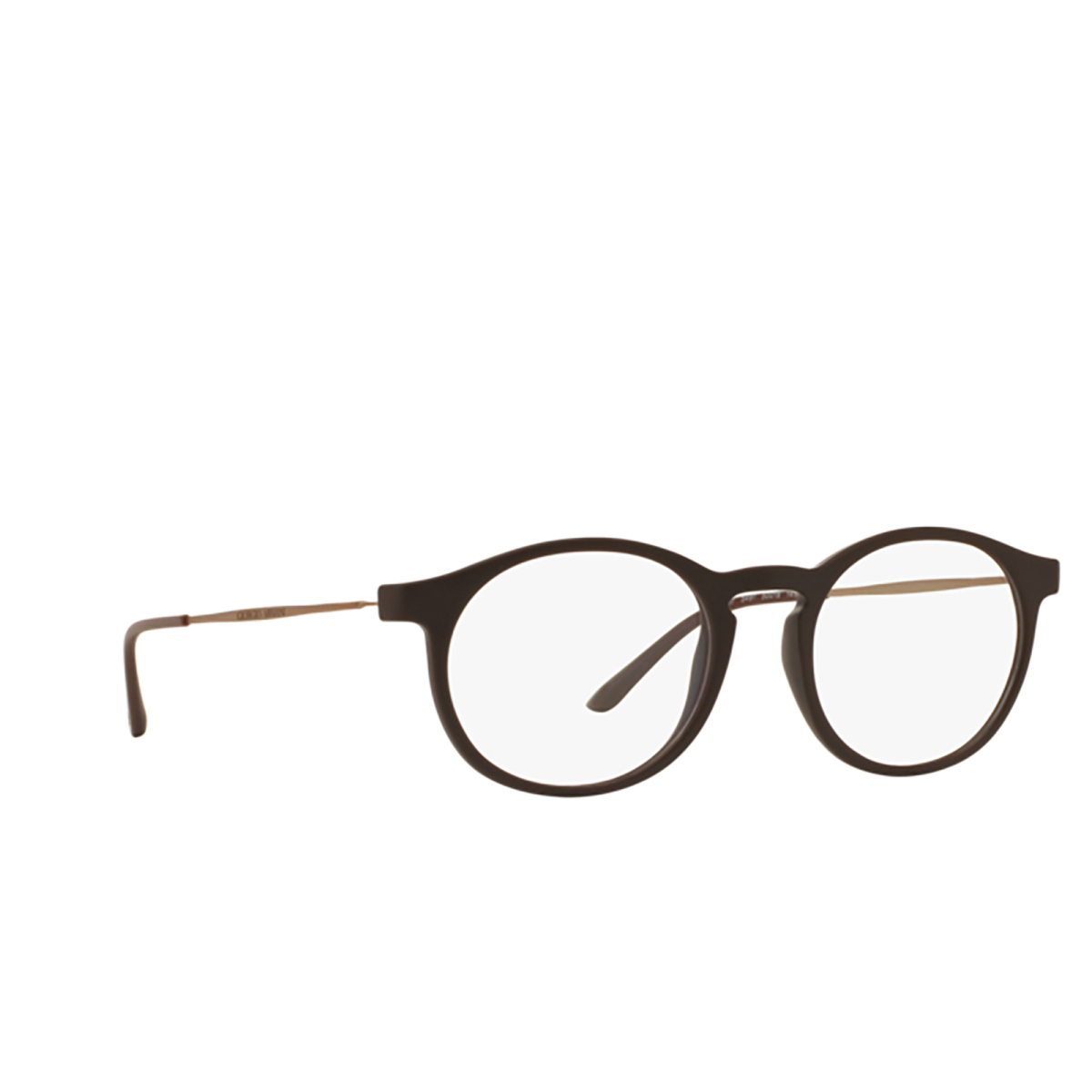 Giorgio Armani® Round Eyeglasses: AR7097 color 5491 - three-quarters view.