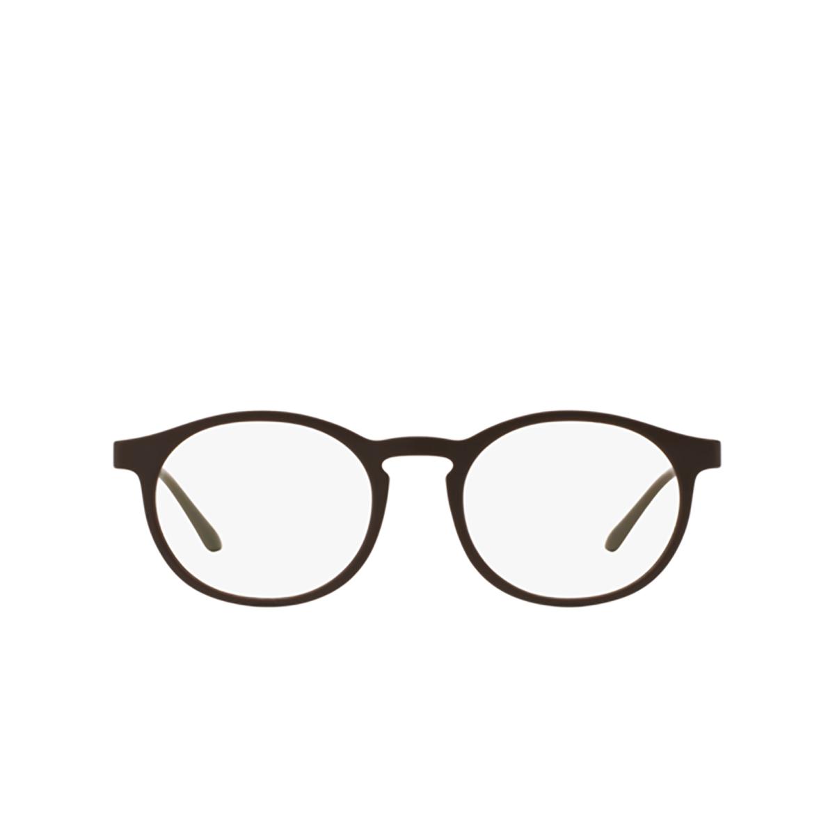 Giorgio Armani® Round Eyeglasses: AR7097 color 5491 - front view.