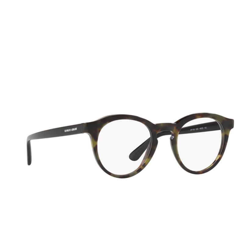 Giorgio Armani® Round Eyeglasses: AR7159 color Green Havana 5032.