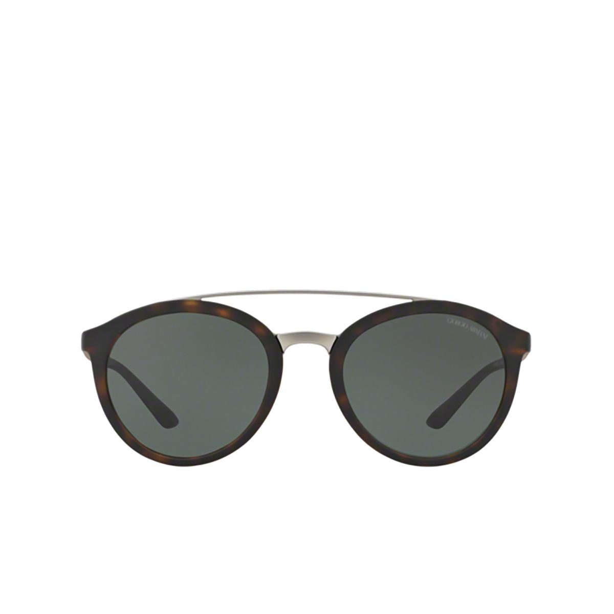 Giorgio Armani® Round Sunglasses: AR8083 color Matte Dark Havana 508971 - front view.