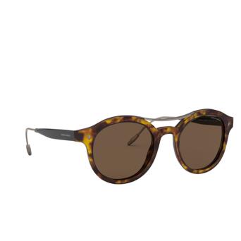 Giorgio Armani® Round Sunglasses: AR8119 color Yellow Havana 501173.