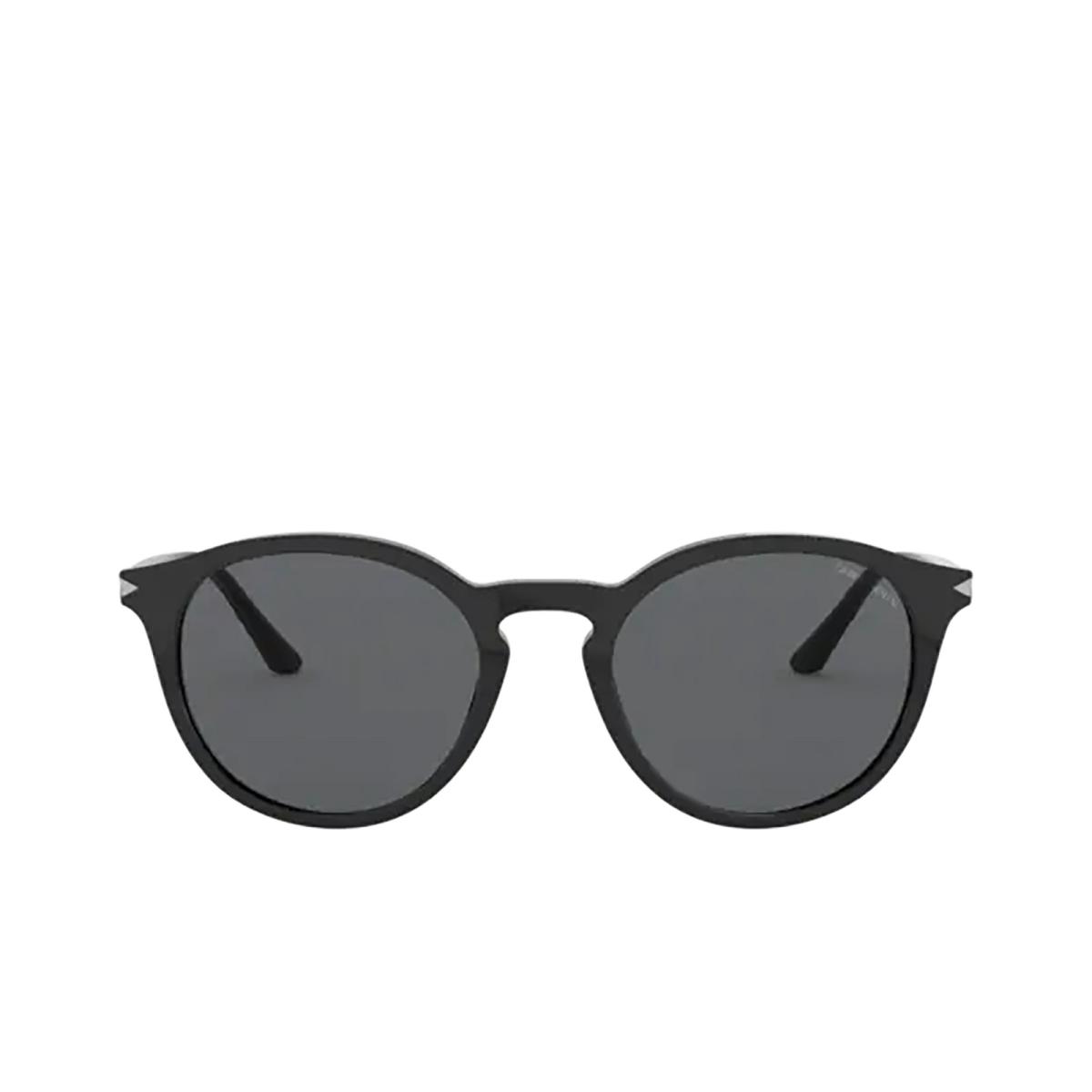 Giorgio Armani® Round Sunglasses: AR8122 color Black 500187.