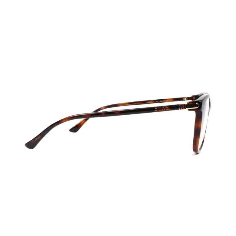 Gucci® Square Eyeglasses: GG0018O color Havana 006.