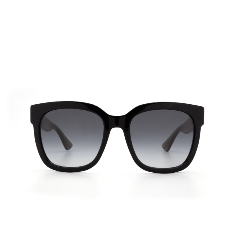Gucci® Square Sunglasses: GG0034S color Black 002.