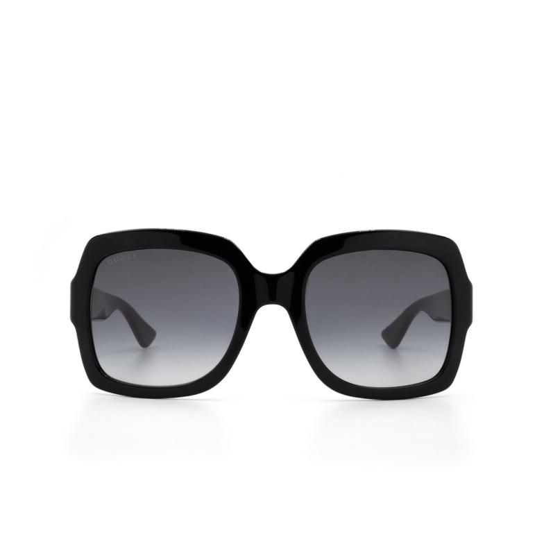 Gucci® Square Sunglasses: GG0036S color Black 001.
