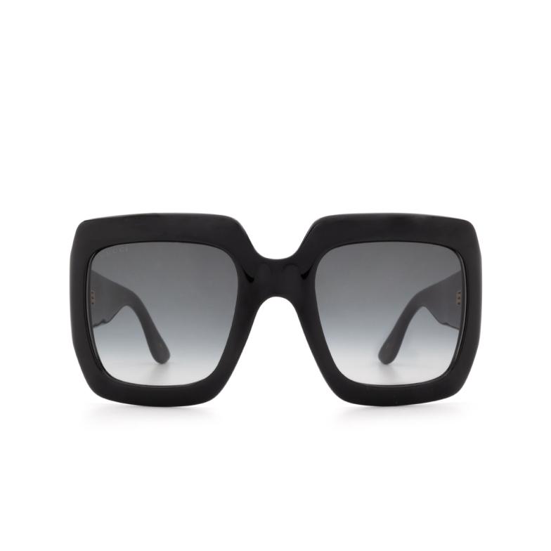 Gucci® Square Sunglasses: GG0053S color Black 001.