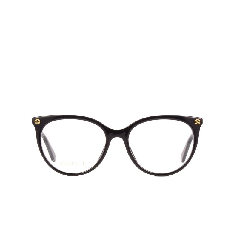 Gucci® Cat-eye Eyeglasses: GG0093O color Black 001.