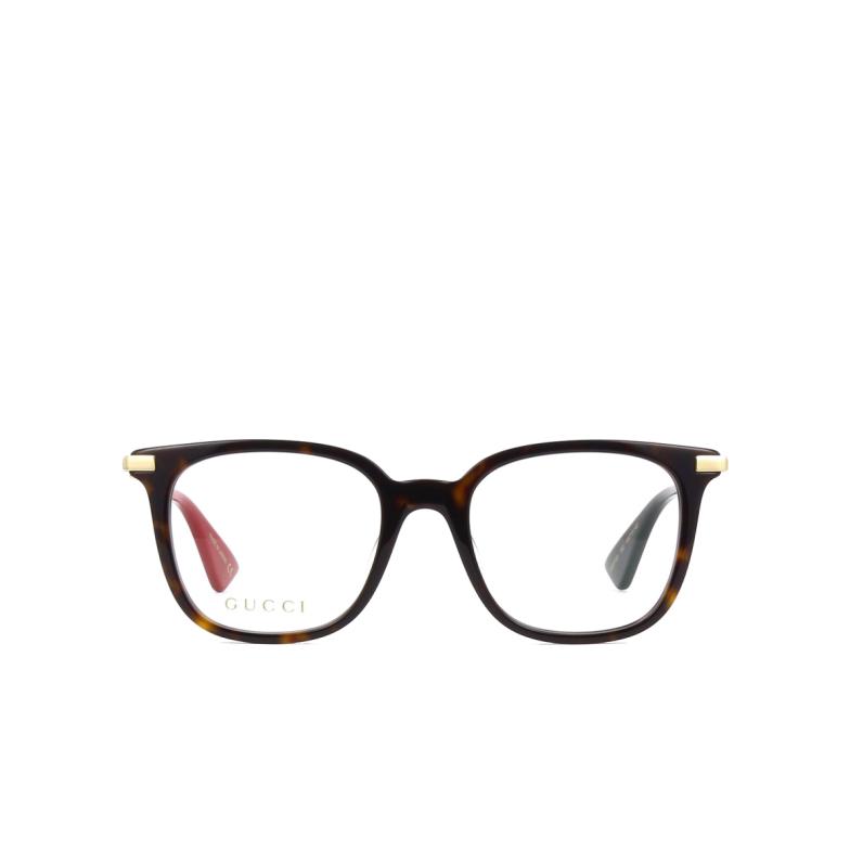 Gucci® Square Eyeglasses: GG0110O color Havana 002.