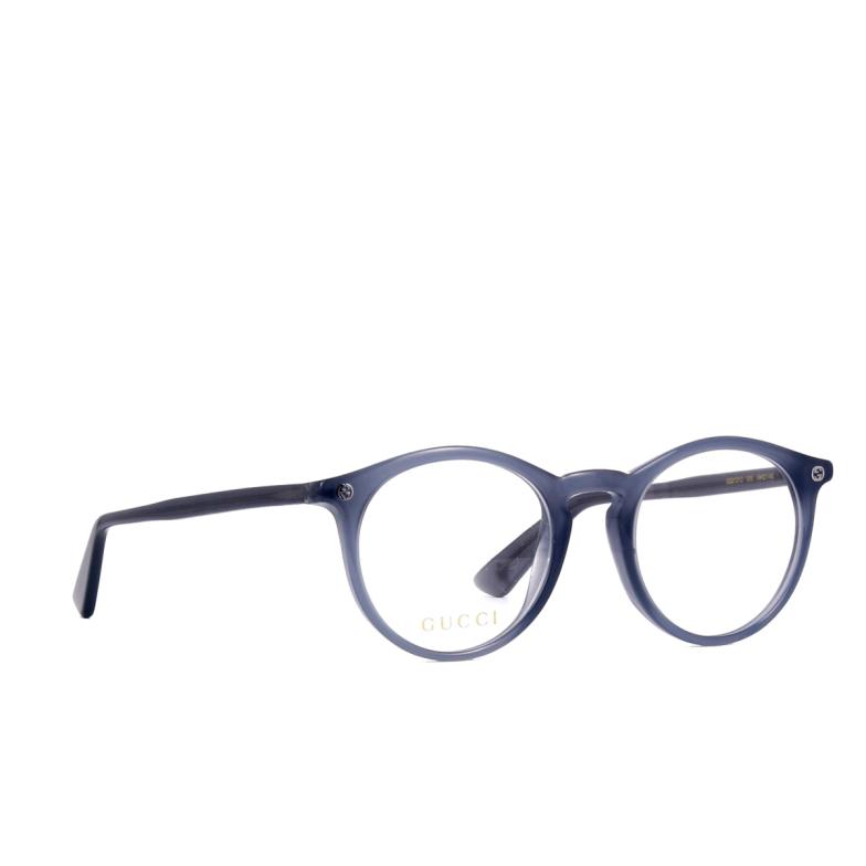 Gucci® Round Eyeglasses: GG0121O color Grey 005.