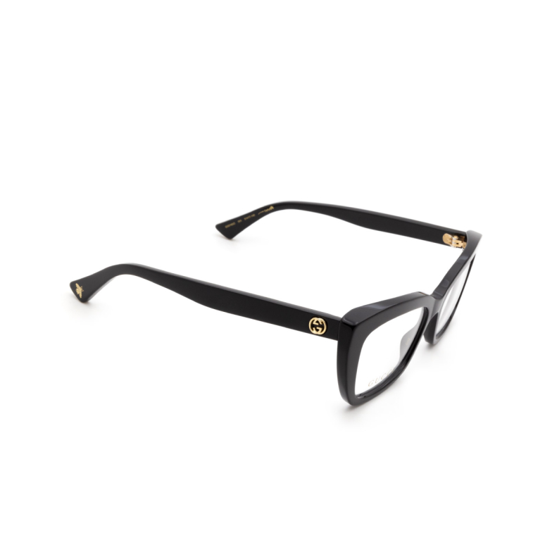 Gucci® Cat-eye Eyeglasses: GG0165O color Black 001.