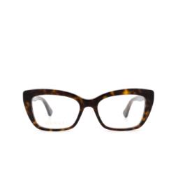 Gucci® Eyeglasses: GG0165O color Havana 002.