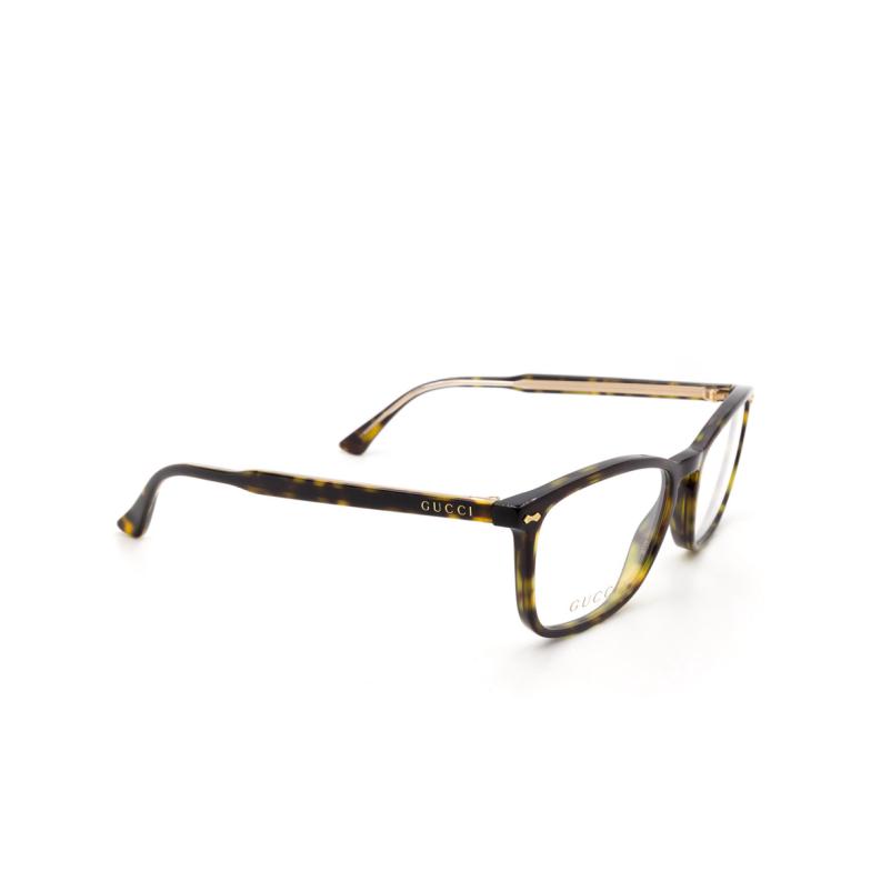 Gucci® Square Eyeglasses: GG0188O color Havana 002.