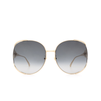 Gucci® Square Sunglasses: GG0225S color Gold 001.