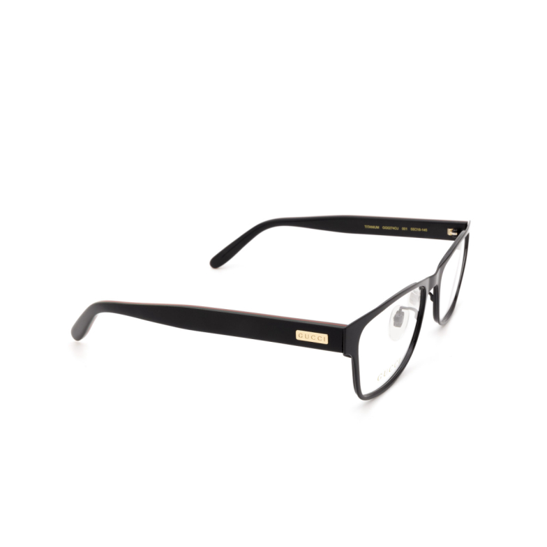 Gucci® Rectangle Eyeglasses: GG0274OJ color Black 001.