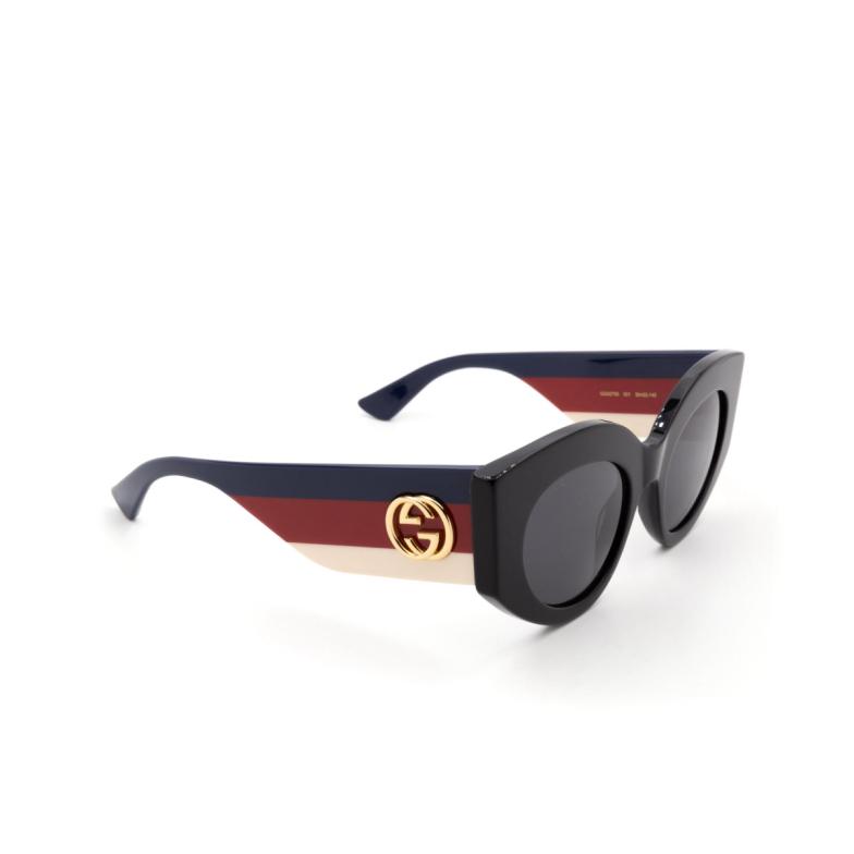 Gucci® Cat-eye Sunglasses: GG0275S color Black 001.