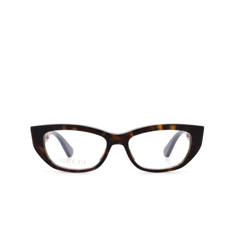 Gucci® Cat-eye Eyeglasses: GG0277O color Havana 006.
