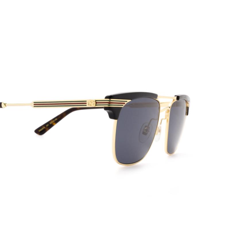 Gucci® Aviator Sunglasses: GG0287S color Black 001.