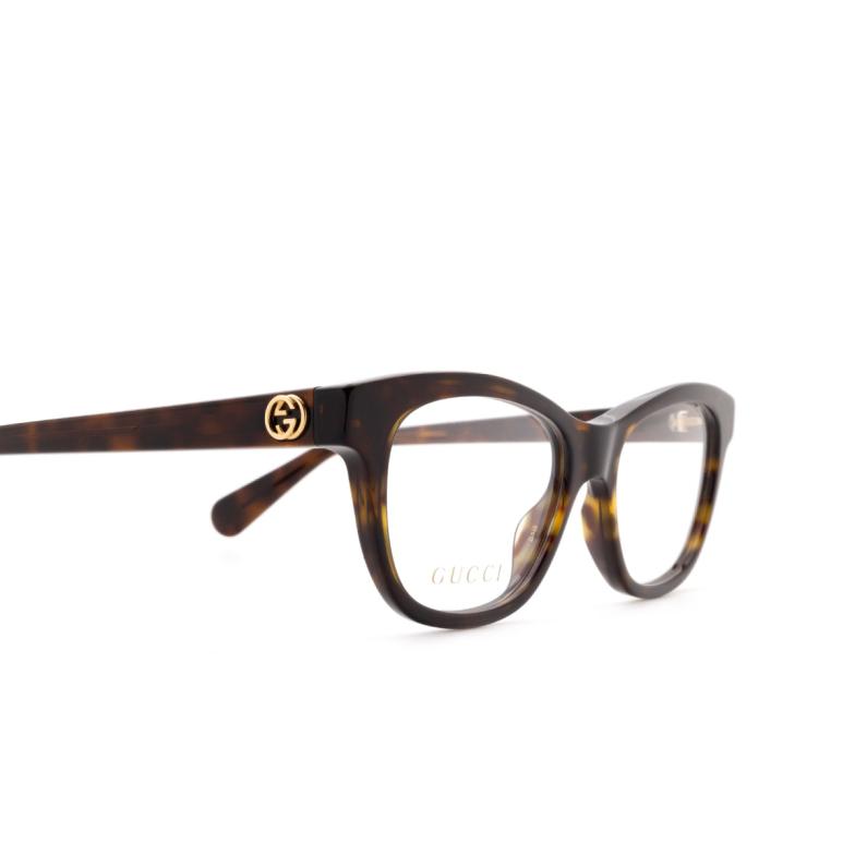 Gucci® Rectangle Eyeglasses: GG0372O color Havana 002.